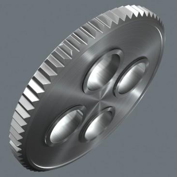 """8100 SA 12 HF Jeu cliquet Zyklop Metal avec levier d'inversion, à emmanchement 1/4"""", métrique  - 05003756001 - Wera Tools"""