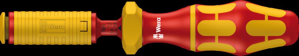 Série 7400 VDE Kraftform Manche dynamométrique réglable (0,3-3,5 Nm)  - 05074750001 - Wera Tools