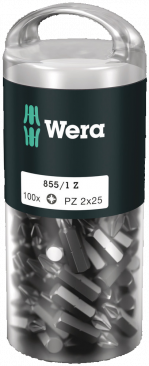 Bit-Sortiment, 855/1 Z PZ 2 DIY 100, PZ 2 x 25 mm  - 05072444001 - Wera Tools
