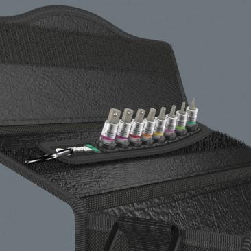 """Belt A Imperial 1 Jeu de douille-embouts Zyklop 1/4"""" pour vis six pans creux avec fonction de retenue  - 05003884001 - Wera T..."""