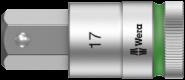 8790 HMC HF 1 Jeu de douilles à carré Zyklop à fonction de retenue  - 05004203001 - Wera Tools
