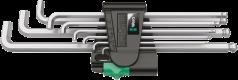 950/9 Hex-Plus 4 Jeu de clés mâles coudées, syst. métrique, chromées, 9 pièces  - 05073594001 - Wera Tools