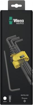 950/9 Hex-Plus 1 SB Jeu de clés mâles coudées, syst. impérial, BlackLaser  - 05133180001 - Wera Tools