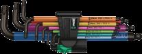 950/9 Hex-Plus Multicolour 1 Jeu de clés mâles coudées, syst. métrique, BlackLaser  - 05022089001 - Wera Tools