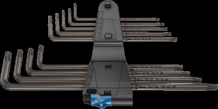 967/9 TX XL HF 1 Clés mâles coudées TORX® HF avec fonction de retenue, version longue  - 05024450001 - Wera Tools