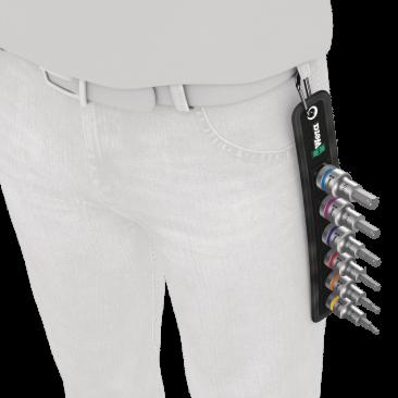 """Belt C 2 Jeu de douille-embouts Zyklop 1/2"""" pour vis six pans creux avec fonction de retenue  - 05003996001 - Wera Tools"""