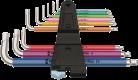 3950/9 Hex-Plus Multicolour Stainless 1 Jeu de clés mâles coudées, syst. métrique, acier inoxydable  - 05022669001 - Wera Tools