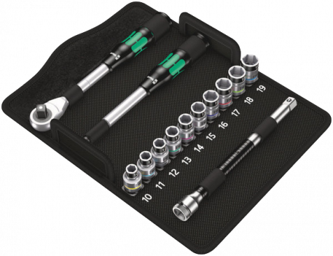 """8006 SC 1 Jeu cliquet Zyklop Hybrid, à emmanchement 1/2"""", syst. métrique  - 05004090001 - Wera Tools"""