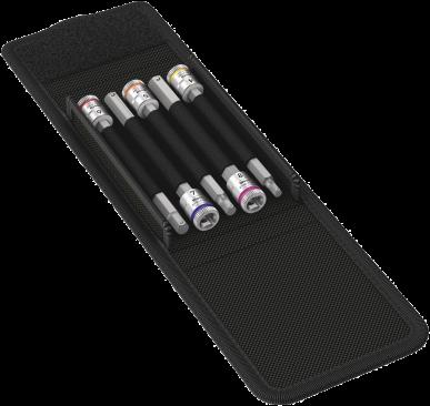 8740 A HF 1 Jeu de douille-embouts Zyklop avec fonction de retenue et attachement 1/4''  - 05003345001 - Wera Tools
