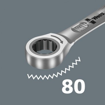 Jeu de clés mixtes à cliquet Joker 6001, syst. impérial à inversion, 4 pièces  - 05020092001 - Wera Tools