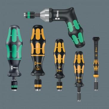 """Série 7400 Kraftform, Tournevis dynamométrique à couple préréglé (3,0-8,8 Nm), manche """"pistolet""""  - 05074717001 - Wera Tools"""