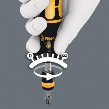 Série 7400 Kraftform ESD, Tournevis dynamométrique réglable (0,1-3,0 Nm)  - 05074780001 - Wera Tools