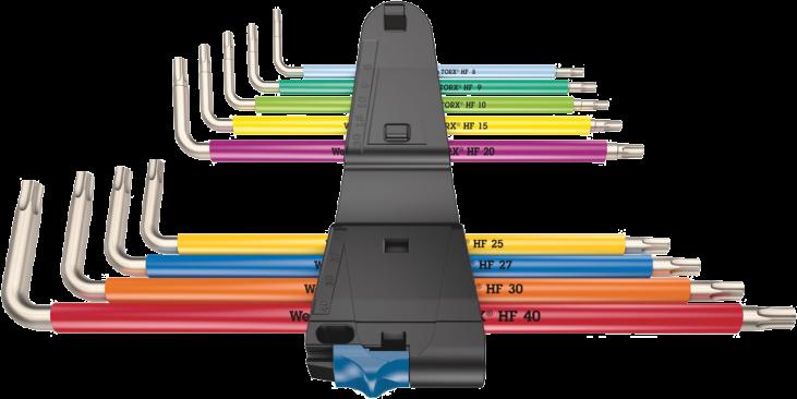 3967/9 TX SXL Multicolour HF Stainless 1 Jeu de clés mâles coudées TORX® HF avec fonction de retenue, acier inoxydable  - 050...
