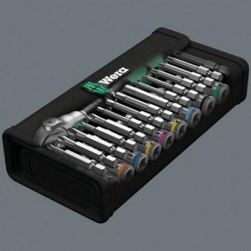 """8100 SA 6 Jeu cliquet Zyklop Speed, à emmanchement 1/4"""", métrique  - 05004016001 - Wera Tools"""