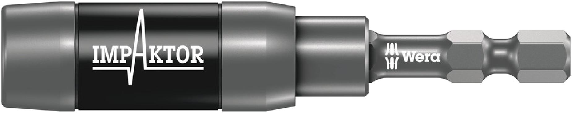 """897/4 IMP R Porte-embouts Impaktor avec aimant annulaire et jonc d'arrêt, 1/4"""" x 75 mm  - 05057676001 - Wera Tools"""