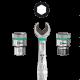 """Belt A 2 Jeu de douille-embouts Zyklop 1/4"""" pour vis six pans creux avec fonction de retenue  - 05003881001 - Wera Tools"""
