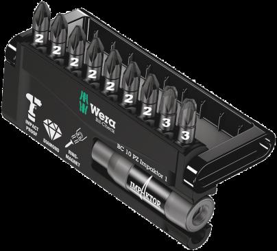 Bit-Check 10 PZ Impaktor 1  - 05057684001 - Wera Tools