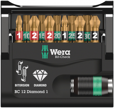 Bit-Check 12 Diamond 1  - 05057421001 - Wera Tools