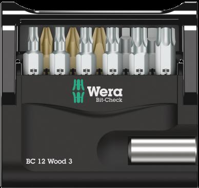 Bit-Check 12 Wood 3  - 05057426001 - Wera Tools
