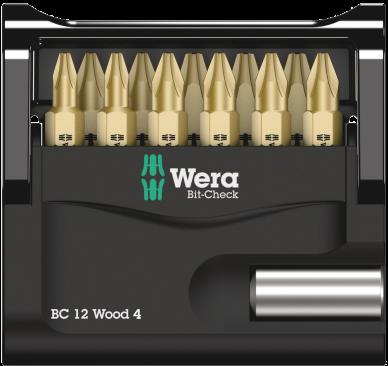 Bit-Check 12 Wood 4  - 05057427001 - Wera Tools