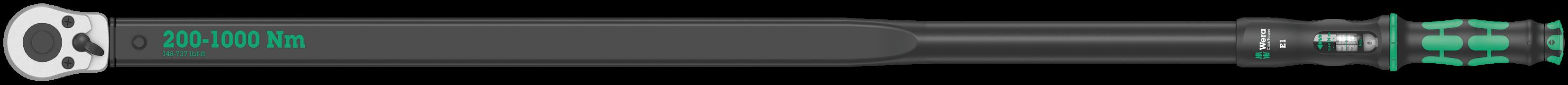 Clé dynamométrique à cliquet Click-Torque E1  - 05075630001 - Wera Tools