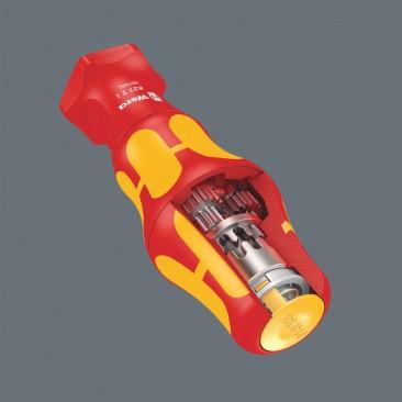 827 T i Manche Kraftform Turbo - 05057481001 - Wera Tools - Manche destiné aux lames interchangeables WERA VDE