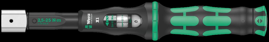 Clé dynamométrique à outil interchangeable Click-Torque X1  - 05075651001 - Wera Tools