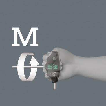 454/7 HF Set 1 Jeu de tournevis Hex-Plus à manche en T avec fonction de retenue  - 05023450001 - Wera Tools