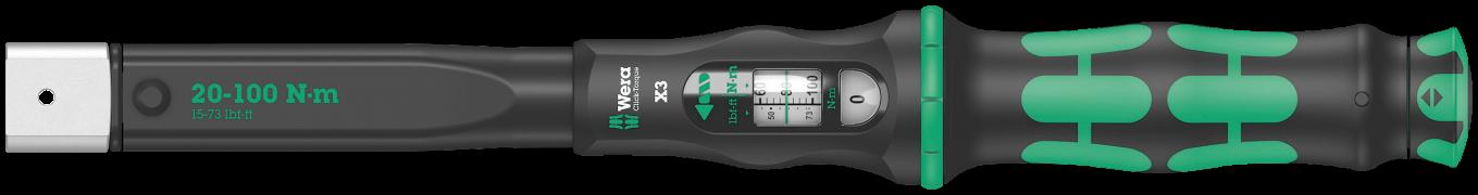 Clé dynamométrique à outil interchangeable Click-Torque X3  - 05075653001 - Wera Tools