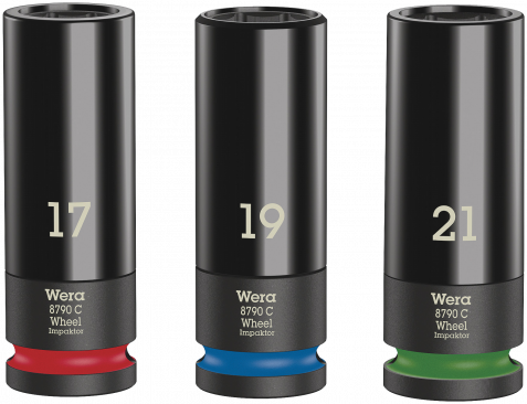 Wheel Impaktor C Set 1 Jeu de douilles  - 05004595001 - Wera Tools