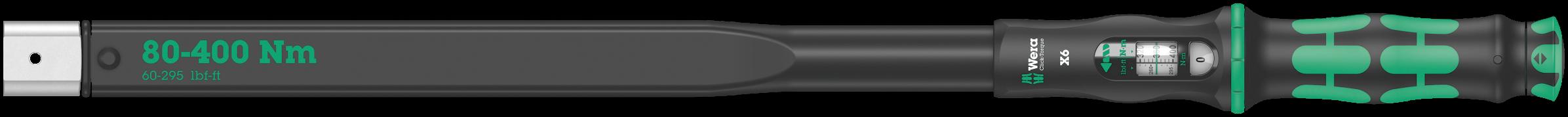 Clé dynamométrique à outil interchangeable Click-Torque X6  - 05075656001 - Wera Tools