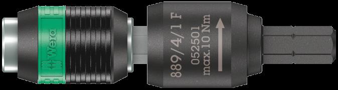 """889/4/1 F Porte-embouts à roue libre Rapidaptor pour tournevis dynamométriques avec manche «revolver », 1/4"""" x 64 mm  - 05052..."""