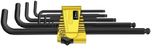 950/13 Hex-Plus 1 SB Jeu de clés mâles coudées, syst. impérial, BlackLaser  - 05021721001 - Wera Tools