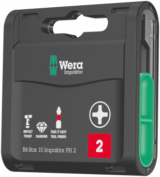 Bit-Box 15 Impaktor PH  - 05057752001 - Wera Tools