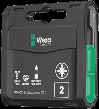 Bit-Box 15 Impaktor PZ2  - 05057763001 - Wera Tools