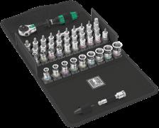 """8100 SA All-in Jeu cliquet Zyklop Speed, à emmanchement 1/4"""", avec fonction de retenue, métrique  - 05003755001 - Wera Tools"""